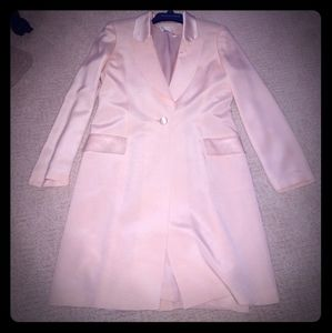 Pale pink silk, lined dress and matching coat
